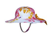 勇发服饰-小清新款女孩印花大檐蝴蝶结户外遮阳边帽 春夏订制 -RM290