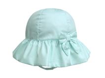 勇发服饰-女孩小清新款纯色简约蝴蝶结春夏遮阳帽 加工订制-RM292