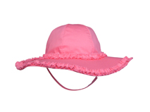 勇发服饰-纯色简约花边女孩春夏户外遮阳帽 渔夫边帽订做-RM294