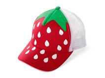 勇发服饰-小草莓点点儿童透气五页运动棒球网帽 春夏 广州生产定制 -RM297