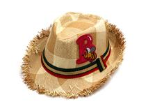 勇发服饰-2015新款儿童洗水做旧沙滩遮阳定型草帽定做-RZ281