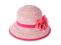 勇发服饰-装饰花包边条纹草帽工厂生产定制 春夏沙滩遮阳 女童 -RZ354