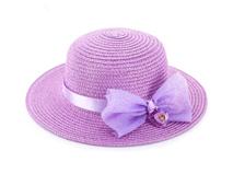 勇发服饰-女童大蝴蝶结沙滩遮阳帽 草帽外贸加工定做 小清新款-RZ357
