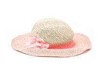 勇发服饰-女童春夏沙滩遮阳装饰花透气镂空大檐渔夫帽 草帽订制-RZ359