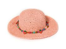 勇发服饰-女童珠子大檐头挨遮阳沙滩草帽工厂定做定制 渔夫帽 -RZ360