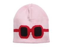 勇发服饰-儿童简约卡通眼镜可爱毛线针织帽 外贸出口定做-RM304