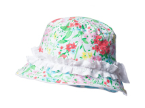 勇发服饰-小女孩小清新款碎花印花花边渔夫帽 桶帽 春夏 订做 -RM310