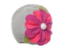 勇发服饰-小清新款盛放花朵儿童秋冬保暖针织套头帽 专业订制 -RM323