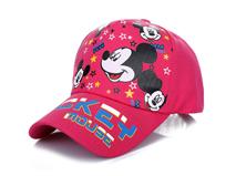 勇发服饰-儿童纯色米老鼠印花春夏遮阳棒球帽生产定做 小清新款-RM342