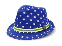 勇发服饰-小清新款儿童小星星印花定型礼帽外贸出口定做定制-RM374