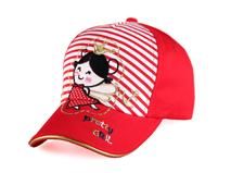勇发服饰-小女孩绣花条纹五页棒球帽广州生产订制订做 儿童帽子-RM380