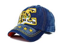 勇发服饰-新款洗水做旧牛仔棒球帽 鸭舌帽专业定制 儿童 成人-BM099
