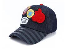 勇发服饰-韩版时尚潮流毛巾绣花印花条纹棒球帽订做 儿童 成人-BM100