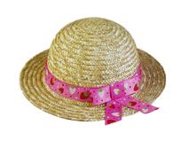 勇发服饰-简约装饰带女童夏季遮阳草帽 田园风 外贸OEM出口 -RR396