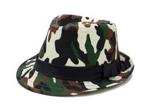 勇发服饰-迷彩定型礼帽订制 春夏遮阳 21年制帽经验 广州帽厂-DM059