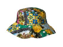 勇发服饰-复古印花儿童 女士大边渔夫帽 春夏遮阳桶帽加工订制 -YM099