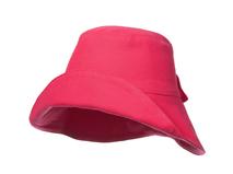 勇发服饰-女士 儿童可折边纯色简约蝴蝶结春夏遮阳桶帽订做-YM100
