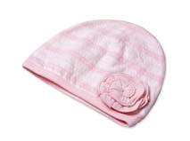 勇发服饰-粉色婴儿帽定做 -AM004