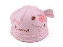 勇发服饰-可爱卡通婴儿套头帽定做-AM015