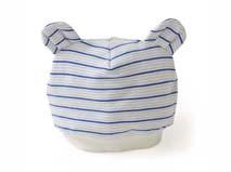 勇发服饰-耳朵条纹婴儿帽定做-AM031