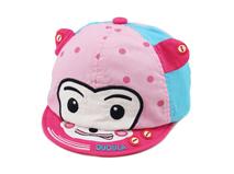 勇发服饰-婴儿新款点点撞色拼接卡通动物绣花棒球帽订做-AM045