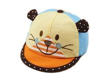 勇发服饰-小清新款婴儿小猫咪可爱点点拼色棒球帽 春夏定制-AM046