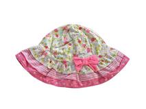 勇发服饰-ODM加工贴牌订做儿童 婴儿碎花可爱小边帽 蝴蝶结 -AM054