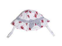 勇发服饰-小清新款条纹蝴蝶结印花全棉渔夫边帽 盆帽 婴儿 儿童 -AM056