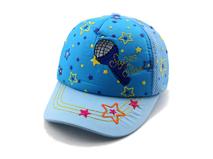 勇发服饰-蓝色小清新款绣花儿童棒球帽 工厂订制订做 婴儿 儿童-AM058