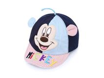 勇发服饰-撞色拼接小老鼠儿童可爱绣花条纹字母可爱棒球帽 婴儿-AM059