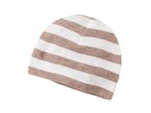 勇发服饰-针织布儿童灰白条纹套头帽工厂专业定制订做 小孩帽-AM065