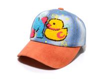 勇发服饰-新款韩版拼色小鸭子毛巾绣花字母牛仔棒球帽订制定做-RM404