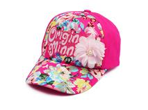 勇发服饰-女童印花字母夏季遮阳鸭舌帽外贸加工订制订做 装饰花-RM406