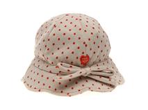 勇发服饰-儿童荷叶边点点蝴蝶结小边帽OEM贴牌订做加工 夏季-RM407