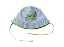 勇发服饰-广州帽厂专业ODM订做加工儿童格子绣花夏季遮阳帽-RM411