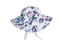 勇发服饰-新款碎花蝴蝶结遮阳帽 12年诚信通 儿童帽 夏季订做 -RM414