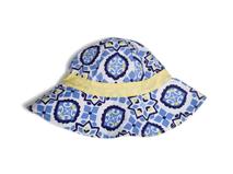 勇发服饰-儿童夏季新款复古印花遮阳桶帽 浅蓝色 12年诚信通-RM415