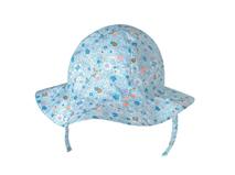 勇发服饰-女童浅蓝色碎花夏季小边帽 下巴带 广州工厂ODM订做 -RM425