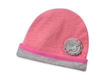 勇发服饰-折叠花粉红色点点可折边儿童套头帽订制定做 夏季 全棉-RM428
