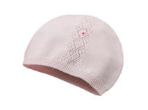 勇发服饰-儿童小清新款纯色针织帽外贸定做加工 婴儿套头帽 -RM429