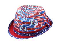 勇发服饰-星星印花拼色儿童定型礼帽 欧美风 外贸出口ODM贴牌 -RM434