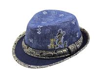 勇发服饰-2015新款蓝色绣花儿童时装定型帽 夏季 欧美风 定做-RM436