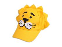 勇发服饰-黄色卡通老虎绣花儿童棒球帽外贸出口ODM贴牌加工 -RM442