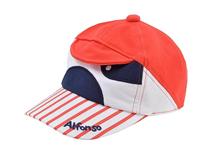 勇发服饰-儿童条纹绣花可爱新款卡通驳接棒球帽 春夏生产订做-RM443