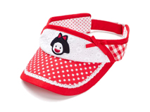 勇发服饰-点点女童遮阳空顶帽 夏季 21年制帽经验 小孩帽 新款-RM448