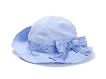 勇发服饰-浅蓝色碎花蝴蝶结女童渔夫边帽 桶帽 田园风 夏季-RM449