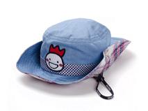 勇发服饰-广东广州工厂贴牌加工儿童夏季遮阳边帽 蓝色 绣花-RM450