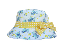 勇发服饰-2015新款夏季女童蝴蝶结桶帽出口加工订制订做 边帽-RM452