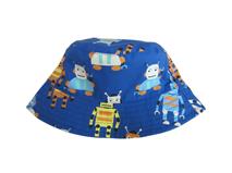 勇发服饰-卡通公仔印花儿童夏季遮阳渔夫边帽 蓝色 工厂专业生产-RM453