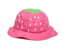 勇发服饰-纯色草莓点点可爱遮阳小边帽 广东广州工厂出口定制 -RT454